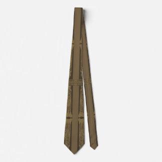 Obra clásica antigua de color caqui adornada del corbata personalizada