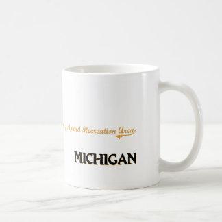 Obra clásica atractiva de Michigan de la zona de Taza Básica Blanca