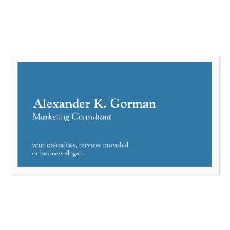 Obra clásica azul del colbalt sólido blanco estánd tarjeta de visita
