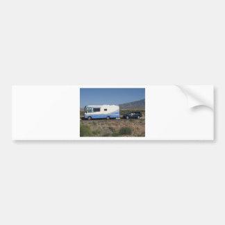 Obra clásica azul rv Motorhome del viaje 1999 del Pegatina Para Auto