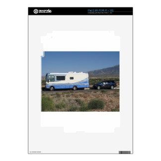 Obra clásica azul rv Motorhome del viaje 1999 del  Calcomanías Para El iPad 2