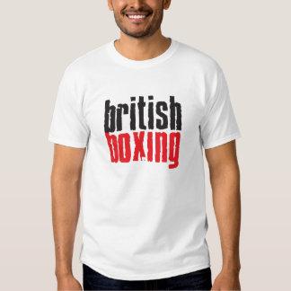 Obra clásica británica de la camiseta del boxeo playera