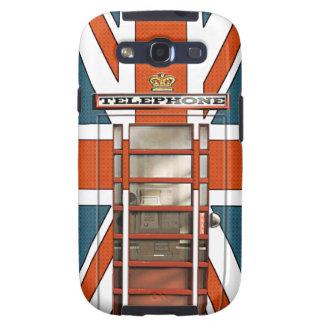 Obra clásica británica divertida Phonebox de la Samsung Galaxy SIII Funda