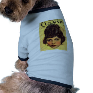 obra clásica cinematográfica camiseta con mangas para perro