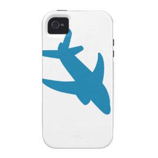 Obra clásica de Airplaine Silhoutte Case-Mate iPhone 4 Carcasas