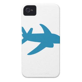 Obra clásica de Airplaine Silhoutte iPhone 4 Case-Mate Cobertura