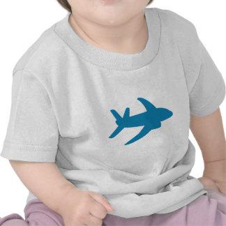 Obra clásica de Airplaine Silhoutte Camisetas