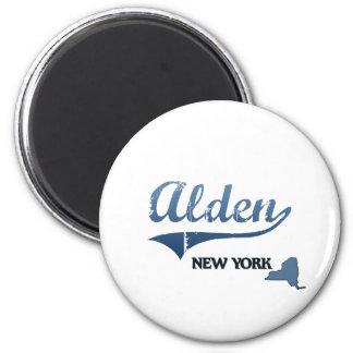 Obra clásica de Alden New York City Imán Redondo 5 Cm