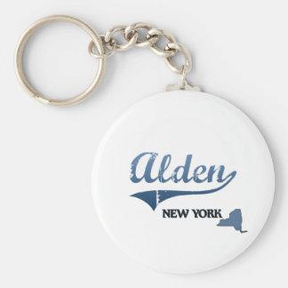 Obra clásica de Alden New York City Llavero Redondo Tipo Pin