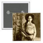 Obra clásica de Annie Oakley Pin Cuadrada 5 Cm