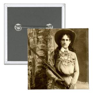 Obra clásica de Annie Oakley Pin Cuadrado