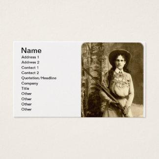 Obra clásica de Annie Oakley Tarjetas De Visita