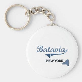 Obra clásica de Batavia New York City Llavero Redondo Tipo Pin