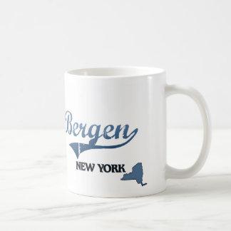 Obra clásica de Bergen New York City Taza Básica Blanca