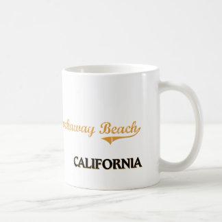 Obra clásica de California de la playa de Rockaway Tazas