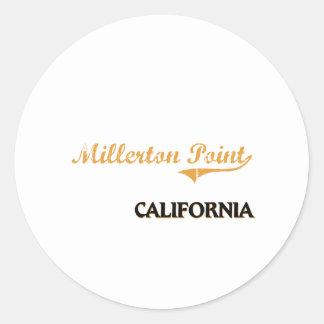 Obra clásica de California del punto de Millerton Etiqueta Redonda