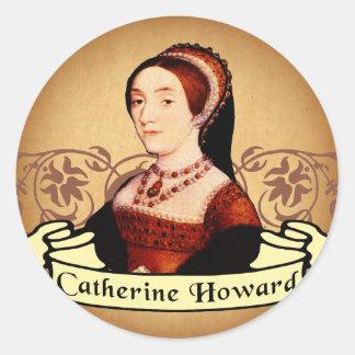 Obra clásica de Catherine Howard Pegatinas Redondas
