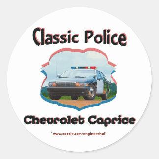 Obra clásica de Chevrolet Caprice del coche Pegatina Redonda