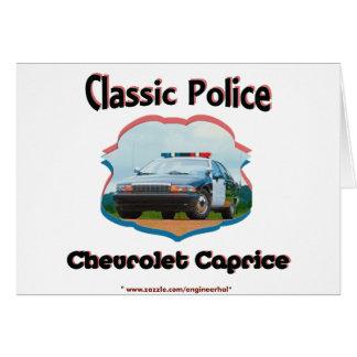 Obra clásica de Chevrolet Caprice del coche policí Felicitación