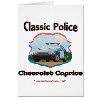 Obra clásica de Chevrolet Caprice del coche policí Tarjetón
