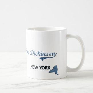 Obra clásica de Dickinson New York City del puerto Tazas