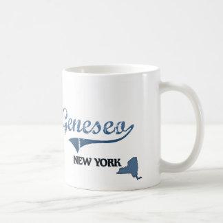 Obra clásica de Geneseo New York City Taza Básica Blanca