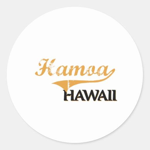 Obra clásica de Hamoa Hawaii Etiquetas