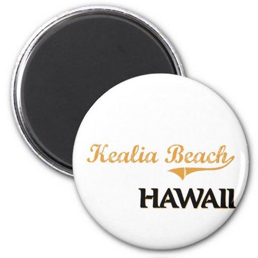Obra clásica de Hawaii de la playa de Kealia Imanes