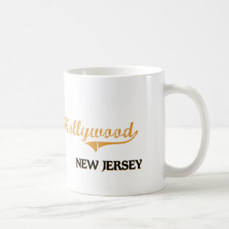 Obra clásica de Hollywood New Jersey Taza Básica Blanca