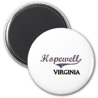 Obra clásica de Hopewell Virginia City Imán De Frigorifico