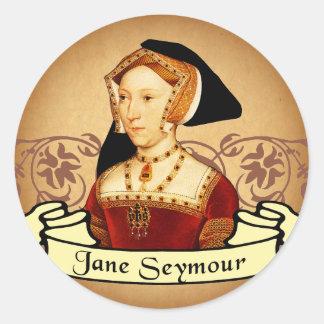 Obra clásica de Jane Seymour Pegatina Redonda