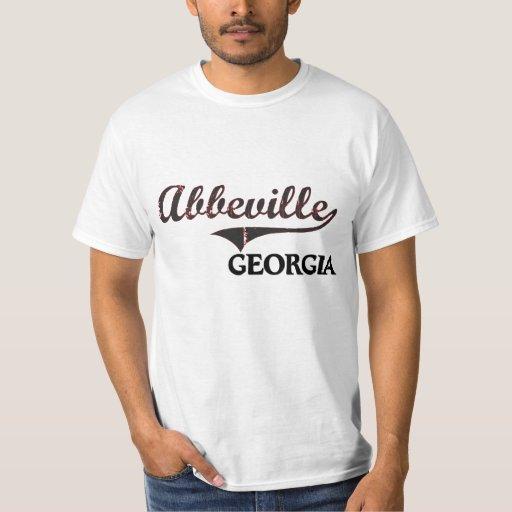 Obra clásica de la ciudad de Abbeville Georgia Playeras