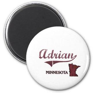Obra clásica de la ciudad de Adrian Minnesota Imanes Para Frigoríficos