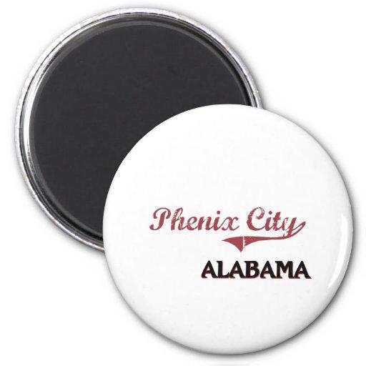 Obra clásica de la ciudad de Alabama de la ciudad  Imán Redondo 5 Cm