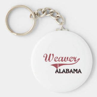 Obra clásica de la ciudad de Alabama del tejedor Llavero Redondo Tipo Pin
