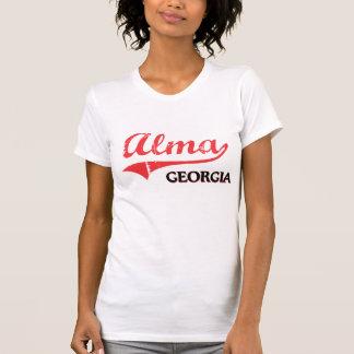 Obra clásica de la ciudad de Alma Georgia Camisetas