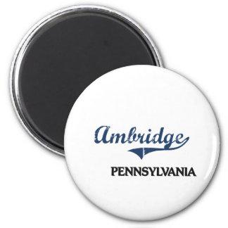 Obra clásica de la ciudad de Ambridge Pennsylvania Imán Redondo 5 Cm