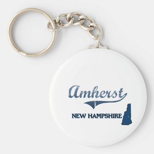 Obra clásica de la ciudad de Amherst New Hampshire Llaveros Personalizados