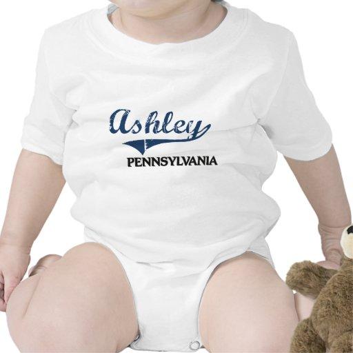 Obra clásica de la ciudad de Ashley Pennsylvania Traje De Bebé