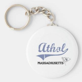 Obra clásica de la ciudad de Athol Massachusetts Llaveros Personalizados