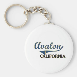 Obra clásica de la ciudad de Avalon California Llavero