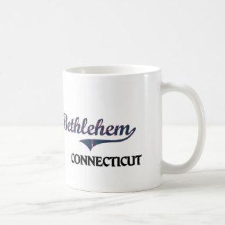 Obra clásica de la ciudad de Belén Connecticut Taza De Café