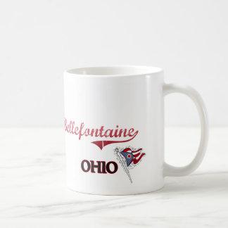 Obra clásica de la ciudad de Bellefontaine Ohio Taza De Café