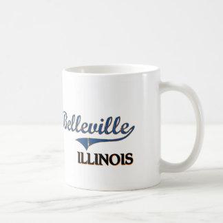Obra clásica de la ciudad de Belleville Illinois Taza
