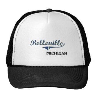 Obra clásica de la ciudad de Belleville Michigan Gorros