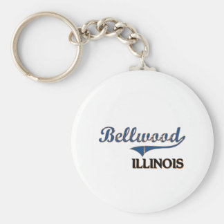 Obra clásica de la ciudad de Bellwood Illinois Llavero Redondo Tipo Pin