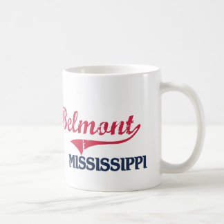 Obra clásica de la ciudad de Belmont Mississippi Taza Básica Blanca