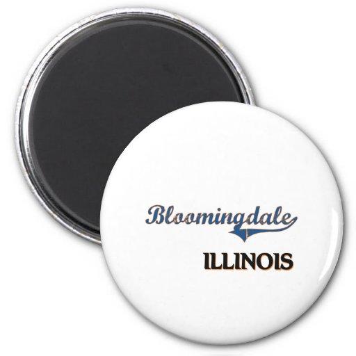 Obra clásica de la ciudad de Bloomingdale Illinois Imán Redondo 5 Cm