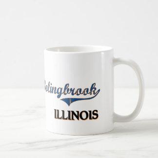 Obra clásica de la ciudad de Bolingbrook Illinois Tazas