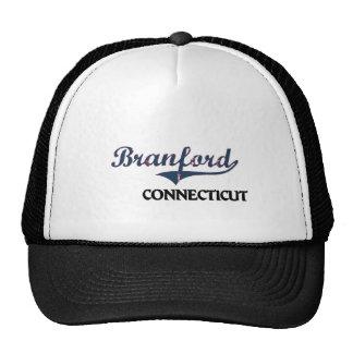 Obra clásica de la ciudad de Branford Connecticut Gorros Bordados